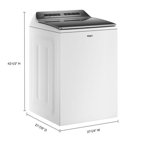 Whirlpool - 5.2 - 5.3 cu. ft. Top Load Washer with 2 in 1 Removable Agitator