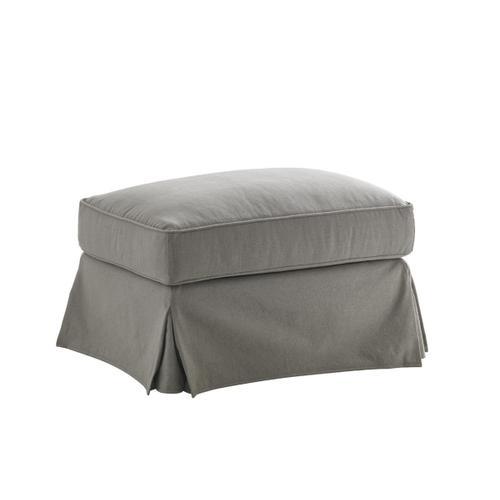Stowe Slipcover Ottoman - Gray