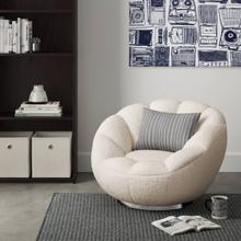 View Product - Modrest Dacano - White Sherpa Accent Chair