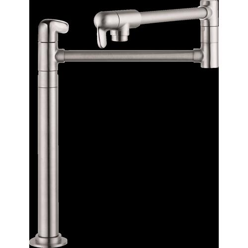 Steel Optic Pot Filler, Deck-Mounted