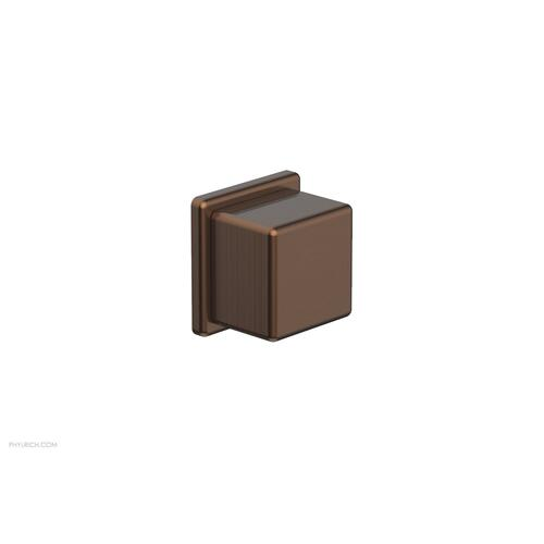 MIX Volume Control/Diverter Trim - Cube Handle 290-38 - Antique Copper