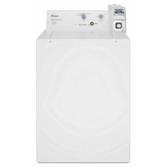 Whirlpool Commercial Top-Load Washer, Coin Equipped White