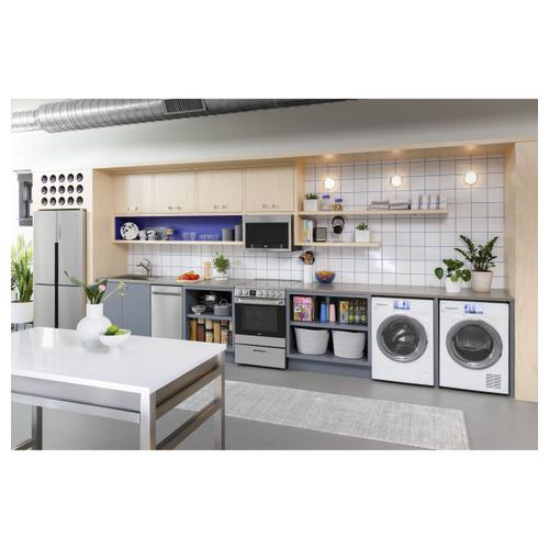 """Haier - 24"""" 1.4 Cu. Ft. Over-The-Range Microwave Oven"""