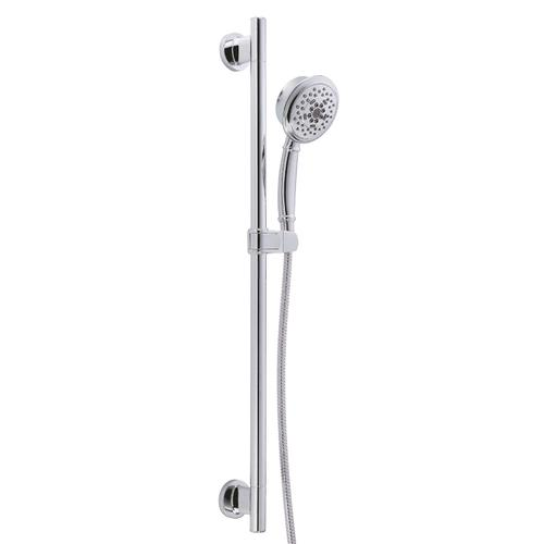 "Chrome Versa 30"" Slide Bar Assembly with Surge® 5-Function Handshower, 1.75gpm"