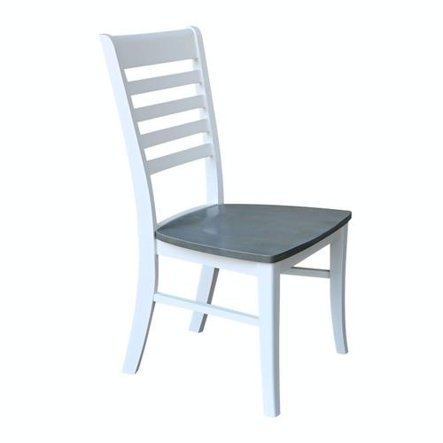 Roma Chair in Heather Gray & White