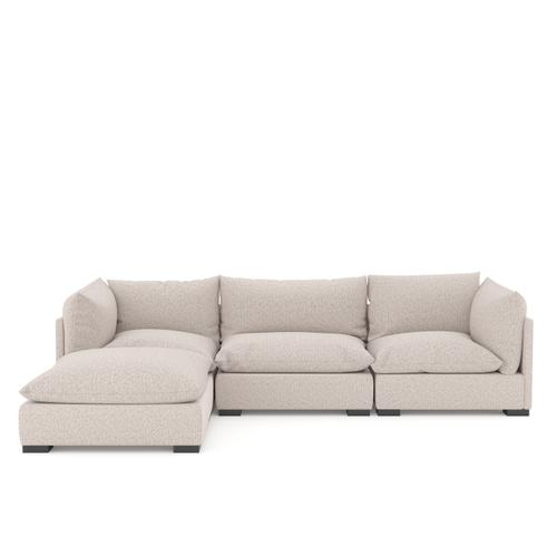 With Ottoman Configuration Bayside Pebble Cover Westwood 3 Piece Sectional