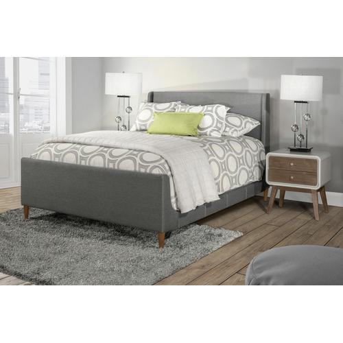 Denmark Headboard and Footboard - King - Linen Charcoal