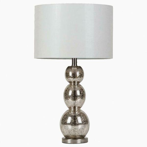 Transitional Antique Silver Lamp