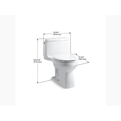 Almond One-piece Compact Elongated 1.28 Gpf Chair Height Toilet With Quiet-close Seat