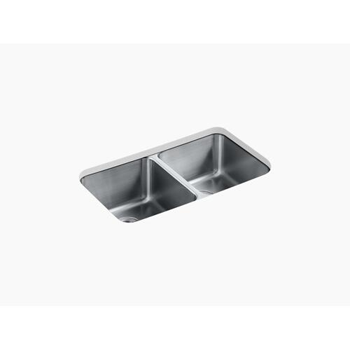 "31-1/2"" X 18"" X 9-3/4"" Undermount Double-equal Bowl Kitchen Sink"