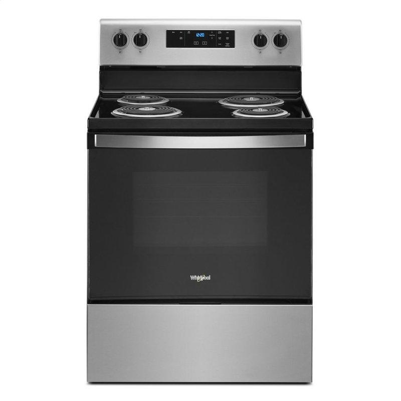 4.8 cu. ft. Whirlpool(R) electric range with Keep Warm setting
