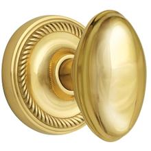 Nostalgic - Single Dummy - Rope rosette with Homestead Knob in Polished Brass