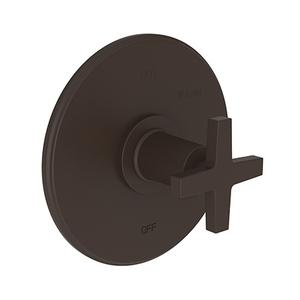 Oil Rubbed Bronze Balanced Pressure Shower Trim Plate with Handle. Less showerhead, arm and flange.