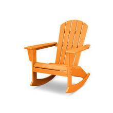 View Product - Nautical Adirondack Rocking Chair in Vintage Tangerine