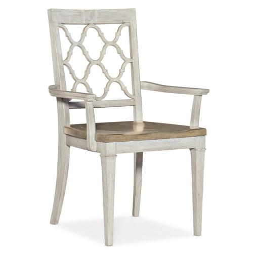 Dining Room Montebello Wood Seat Arm Chair