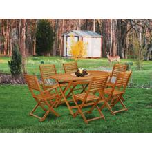 This 7 Piece Acacia Hardwood Backyard Sets provides you one particular Outdoor-Furniture table and Six patio dining chairs