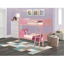Twin Bunk Bed in Pink Finish