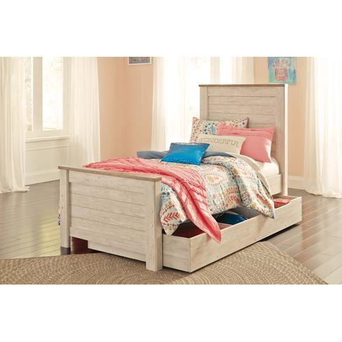 Willowton - Whitewash 5 Piece Bed (Twin)