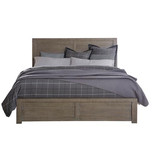 Ruff Hewn King / California King Panel Bed Footboard and Slats in Weathered Taupe