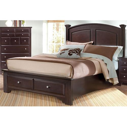 Vaughan-Bassett - Panel Bed with Storage Footboard