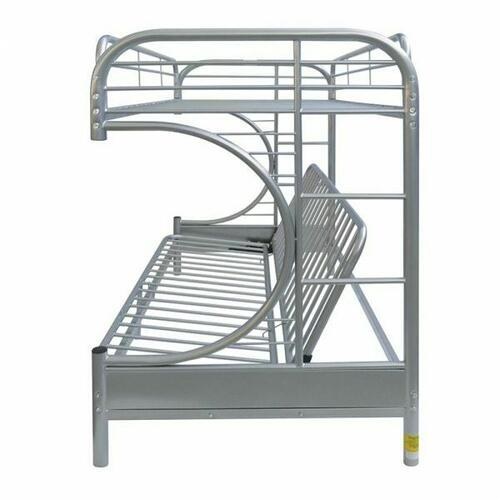 ACME Eclipse Twin XL/Queen/Futon Bunk Bed - 02093SI - Silver