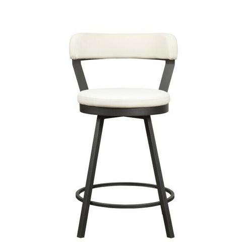 Swivel Counter Height Chair, White