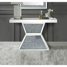 ACME Noralie Console Table - 90497 - Mirrored & Faux Diamonds