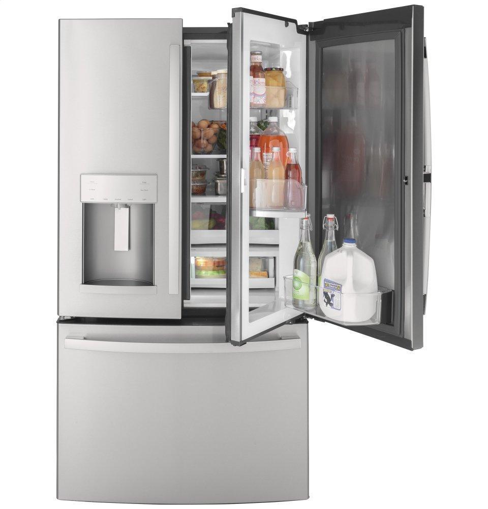 GEGe® 27.7 Cu. Ft. Fingerprint Resistant French-Door Refrigerator With Door In Door