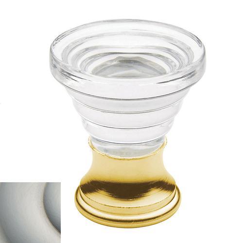 Baldwin - Satin Nickel Crystal Cone Cabinet Knob
