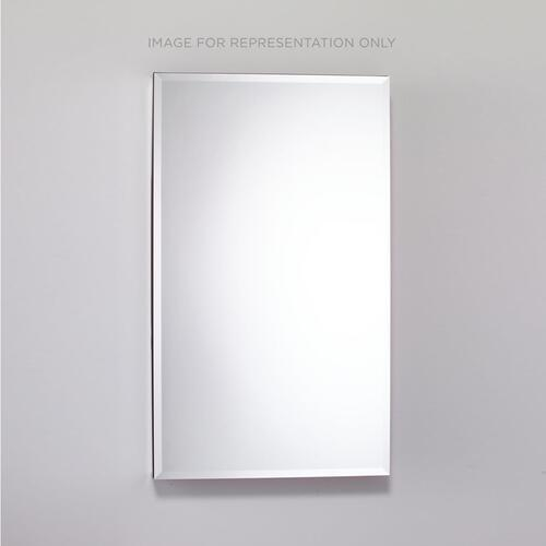 """Pl Series 23-1/4"""" X 39-3/8"""" X 4"""" Flat Top Cabinet With Bevel Edge Mirror, Right Hinge, White Interior and Electric"""