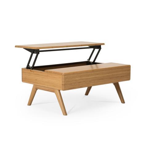 Greenington Fine Bamboo Furniture - Rhody Lift Top Coffee Table, Caramelized