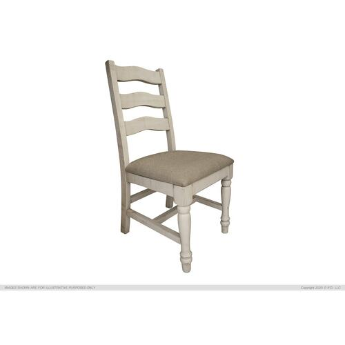 See Details - Solid Wood Chair w/ Fabric Seat