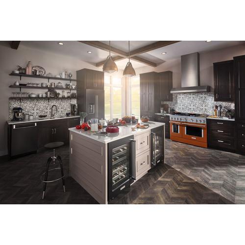 KitchenAid - KitchenAid® 48'' Smart Commercial-Style Dual Fuel Range with Griddle Scorched Orange