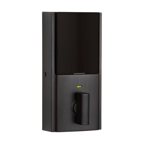 Kwikset - 914 SmartCode Contemporary Electronic Deadbolt with Z-Wave Technology - Venetian Bronze