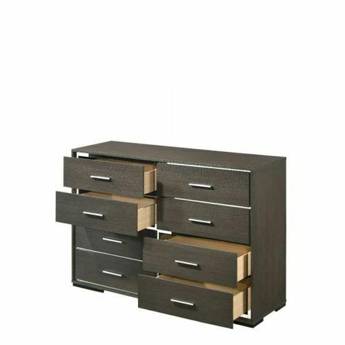 ACME Escher Dresser - 27655 - Contemporary - Melamine Veneer, MDF, PB - Gray Oak