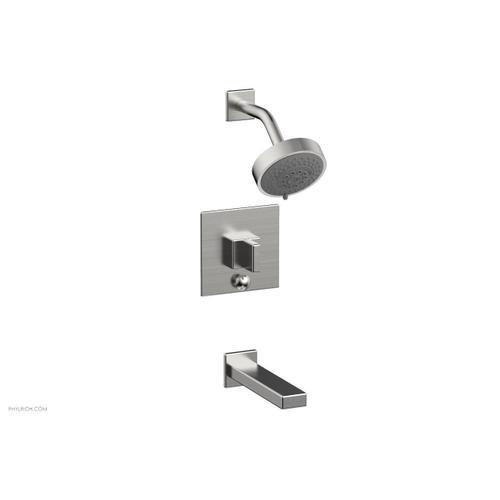 MIX Pressure Balance Tub and Shower Set - Blade Handle 290-26 - Satin Chrome