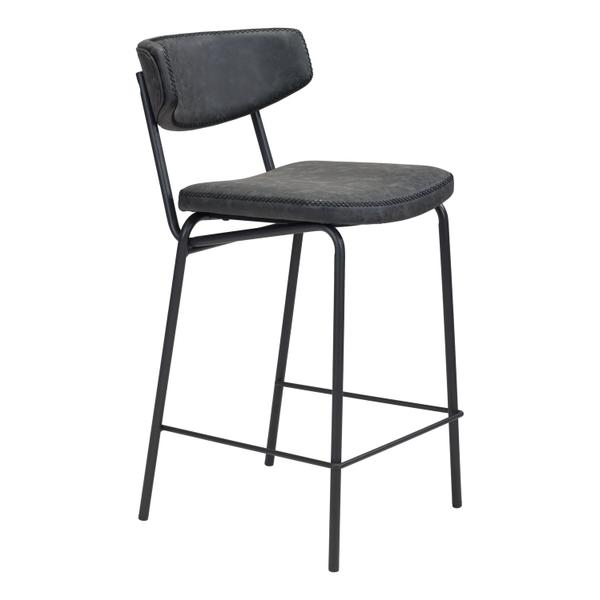 See Details - Sharon Counter Chair Vintage Black