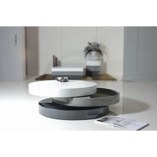 VIG Furniture - Modrest Trio-3 - Lacquer 3-Tone Round Coffee Table