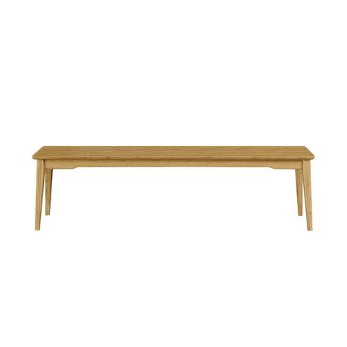 Greenington Fine Bamboo Furniture - Currant Long Bench, Caramelized