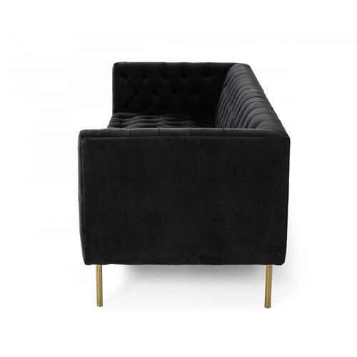 Gallery - Divani Casa Chavez - DK Grey Velvet Sofa
