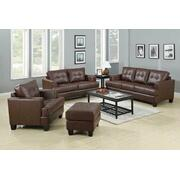 Samuel Transitional Brown Three-piece Living Room Set Product Image