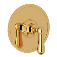Georgian Era Pressure Balance Trim without Diverter - English Gold with Metal Lever Handle
