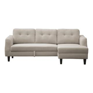 See Details - Belagio Sofa Bed With Chaise Beige Right