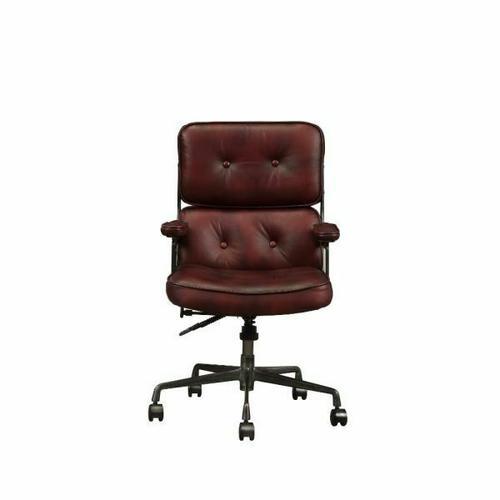 ACME Larisa Executive Office Chair - 92027 - Vintage Merlot Top Grain Leather