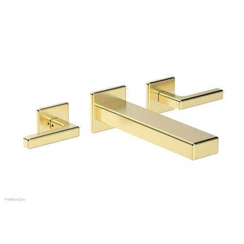MIX Wall Lavatory Set - Lever Handles 290-12 - Polished Brass Uncoated