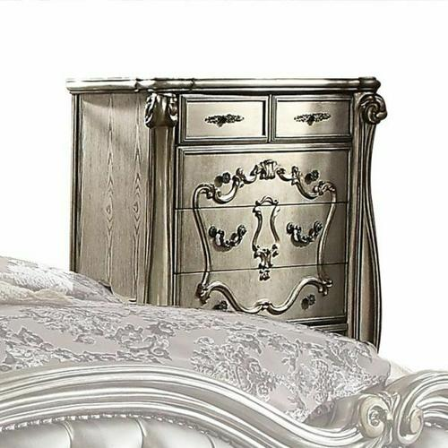 ACME Versailles Chest - 26846 - Antique Platinum