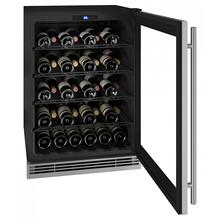 """View Product - Hwc024 24"""" Wine Refrigerator With Stainless Frame Finish (230v/50 Hz Volts /50 Hz Hz)"""