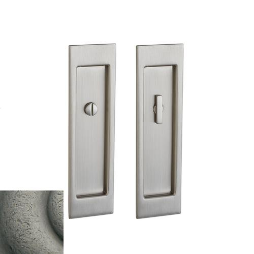 Baldwin - Distressed Antique Nickel PD005 Large Santa Monica Pocket Door