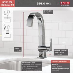 Chrome Single Handle Bar Faucet Product Image