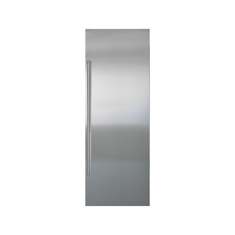 Stainless Steel Flush Inset Refrigerator Door Panel with Pro Handle